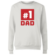 Number 1 Dad Women's Sweatshirt - White