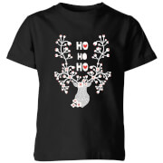 Ho Ho Ho Kids' T-Shirt - Black
