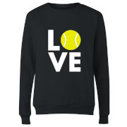 Love Tennis Women's Sweatshirt - Black