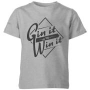 Gin it to Win it Kids' T-Shirt - Grey