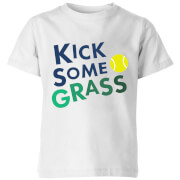 Kick Some Grass Kids' T-Shirt - White