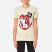 Vivienne Westwood Anglomania Women's Classic T-Shirt Heart World Print - Ocra