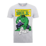 Marvel Comics The Incredible Hulk Krunch Distressed Men's Grey T-Shirt