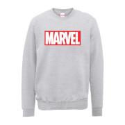 Marvel Main Logo Men's Grey Sweatshirt