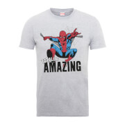 Marvel Comics Spider-Man Totally Amazing Heren T-shirt - Grijs