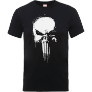 Marvel The Punisher Paintspray Männer T-Shirt - Schwarz
