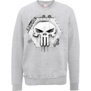 Marvel The Punisher Skull Badge Logo Trui - Grijs
