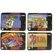 Dessous de Verre Super Nintendo Entertainment System ( Lot de 4)