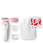 Philips SatinShave Advanced Wet and Dry Electric Ladyshaver with 4 Attachments-C BRL140/00