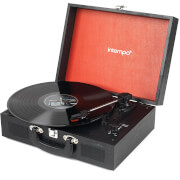 Intempo 3 Speed Bluetooth Turntable with Built-In Speakers - Black