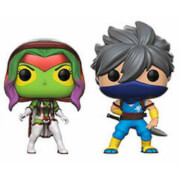 Pack 2 Figuras Pop! Vinyl Exclusivas Gamora vs. Strider - Marvel vs Capcom