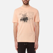 McQ Alexander McQueen Men's Printed Dropped Shoulder T-Shirt - Rebel Peach