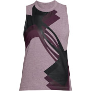 Under Armour Women's Muscle Overlay Logo Tank Top - Purple
