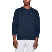 Under Armour Men's Rival Solid Fitted Crew Sweatshirt - Navy