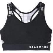 Under Armour Women's Armour Mid Keyhole Mesh Sports Bra - Black