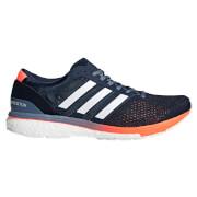 adidas Men's Adizero Boston 6 Running Shoes - Navy/White/Orange