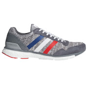 adidas Adizero Adios 3 Aktiv Running Shoes - Grey/White/Scarlet