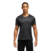 adidas Men's Response Print Running T-Shirt - Black/Carbon