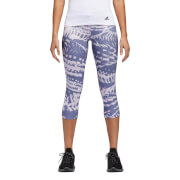 adidas Women's Response 3/4 Q2 Running Tights - Indigo/Pink