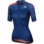 Sportful Women's BodyFit Pro Evo Jersey - Twilight Blue/Coral Fluo