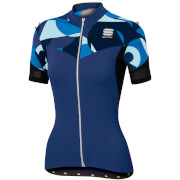 Sportful Women's Primavera Jersey - Blue Twilight/Electric Blue