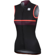 Sportful Women's Diva Sleeveless Jersey - Black/Coral Fluo/Bordeaux