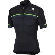 Sportful Pista Jersey - Anthracite/Black/Green Fluo
