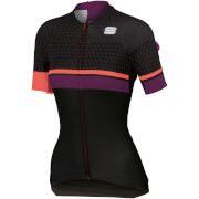 Sportful Women's Diva Jersey - Black/Coral Fluo/Bordeaux