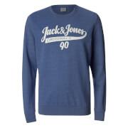 Jack & Jones Men's Originals Galions Large Logo Sweatshirt - Bleached Denim
