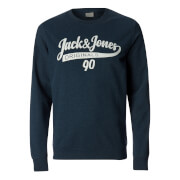 Jack & Jones Men's Originals Galions Large Logo Sweatshirt - Dark Denim