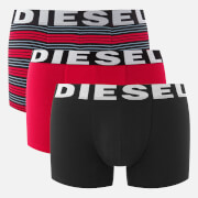 Diesel Men's Shawn 3 Pack Boxers - Red Stripe
