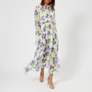 MSGM Women's Maxi Frill Dress - Lilac/White