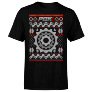 PBK Christmas Stitch Pattern Black T-Shirt