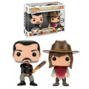 Lot de 2 Figurines Pop! EXC Negan & Carl - The Walking Dead