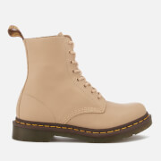 Dr. Martens Women's Pascal 8-Eye Virginia Leather Boots - Nude