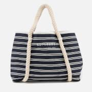 Superdry Women's Bayshore Stripe Beach Tote Bag - Navy/White