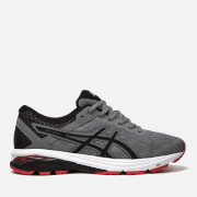 Asics Men's Running GT-1000 6 Trainers - Stone Grey/Black/Classic Red