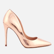 Steve Madden Women's Daisie Leather Court Shoes - Rose Gold