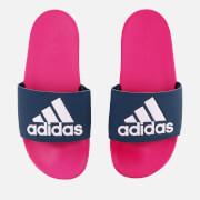 adidas Women's Adilette Logo Slide Sandals - Shock Pink