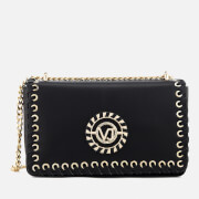 Versace Jeans Women's Whip Stitched Shoulder Bag - Black