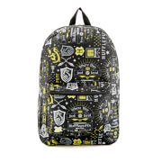 Harry Potter Hufflepuff Icon Sublimated Backpack - Black