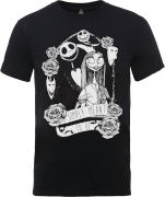 Disney The Nightmare Before Christmas Jack Skellington And Sally Black T-Shirt