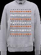 The Nightmare Before Christmas Jack Pumpkin Faces Grey Sweatshirt
