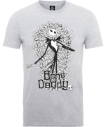 Disney The Nightmare Before Christmas Jack Skellington Bone Daddy Grey T-Shirt