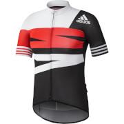 adidas Men's Adistar Jersey - Black/White/Red