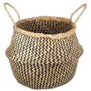 Parlane Hau Seagrass Basket - Natural/Black