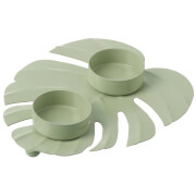 Parlane Palm Metal Tealight Holder - Light Green