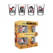 The Walking Dead Characters Shot Glasses