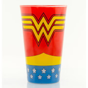 Wonder Woman Costume Coloured Large Glasses 16oz