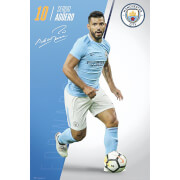 Manchester City Aguero 17/18 Maxi Poster 61 x 91.5cm